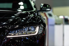 Headlight of Jaguar XF. Royalty Free Stock Photo