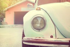 Headlight lamp old antique car - vehicles vintage classic style. Vintage pastel style Stock Photography