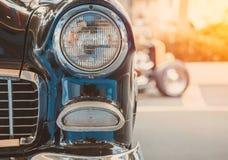 Headlight lamp of retro classic car vintage style Royalty Free Stock Photos