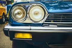 Headlight lamp of vintage car Royalty Free Stock Images