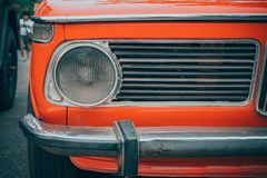 Headlight lamp of vintage car Stock Images