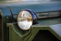 Headlight of military car Royalty Free Stock Images