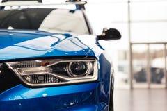 Headlight of a modern car royalty free stock image