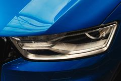 Headlight of a modern car stock photo