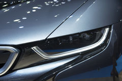 Headlight of a modern luxury car Royalty Free Stock Images