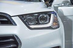 Headlight of a modern luxury car Stock Photos