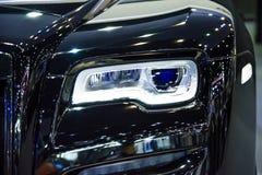 Headlight of a modern luxury car Royalty Free Stock Image