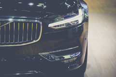Headlight of a modern luxury car, auto detail Stock Photography
