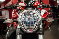 Headlight of a modern motorcycle Stock Photography