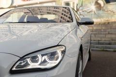 headlight of modern prestigious car close up Royalty Free Stock Photo