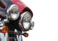 Headlight of motorcycle Stock Photos