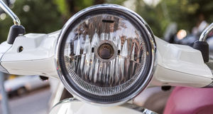 Headlight of Motorcycle Stock Images
