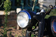 Headlight motorcycle. Round headlights old motorcycle close-up Royalty Free Stock Images