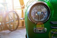 Free Headlight Of Antique Old Car, Detail On The Headlight Of A Vintage Car. Selective Focus Royalty Free Stock Image - 149187536