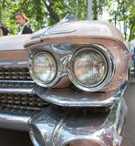 Headlight of the old American car on show of collection Retrofest cars Stock Photo
