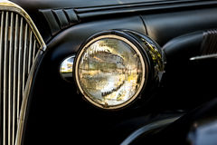 Headlight on an old American Coupe Royalty Free Stock Image
