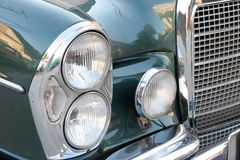 Headlight old car Stock Image