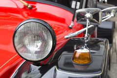 Headlight of an old car with rearview Royalty Free Stock Photos