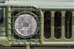 Headlight on a old military vehicle Stock Photos
