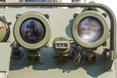 Headlight on a old military vehicle Royalty Free Stock Photography