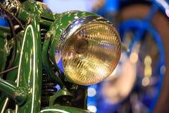 Headlight of old motorbike closeup Royalty Free Stock Photos