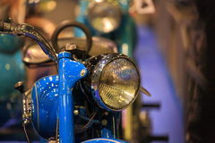 Headlight of old motorbike closeup Royalty Free Stock Images