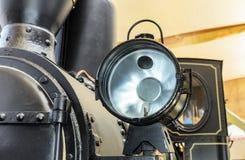 Headlight of the old locomotive. Royalty Free Stock Photo