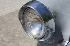 Headlight of old Volga car Royalty Free Stock Image