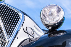 Headlight of a oldtimer Stock Photography