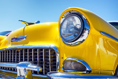 Headlight of a oldtimer Stock Photos