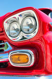 Headlight of a oldtimer Stock Images