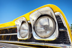 Headlight of a oldtimer Stock Photo