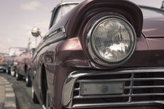 Headlight of oldtimer. Havana, Cuba Stock Image