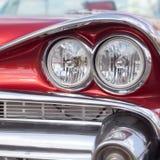 Headlight of oldtimer. Havana, Cuba Stock Image
