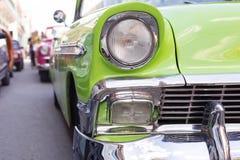Headlight of oldtimer. Havana, Cuba Royalty Free Stock Photography