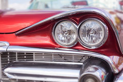 Headlight of oldtimer. Havana, Cuba Royalty Free Stock Photos