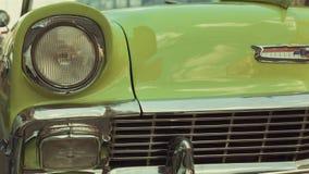 Headlight of oldtimer. Havana, Cuba Stock Photo