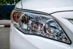 Headlight a powerful light at the front of a motor vehicle Royalty Free Stock Image