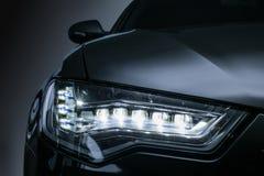 headlight of prestigious car close up Stock Photo