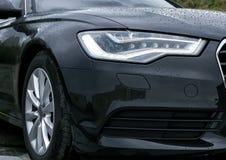 headlight of prestigious car close up Stock Images
