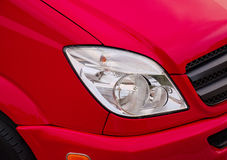 Headlight of red car Royalty Free Stock Photography