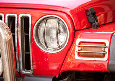 Headlight of red SUV Royalty Free Stock Images