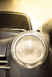 Headlight of retro car Stock Photos