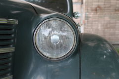 Headlight retro car Stock Image