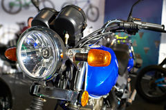 Headlight of road motorcycle Stock Images