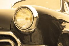 Headlight sepia Royalty Free Stock Image