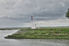 Headlight in Somme bay, France Royalty Free Stock Photo