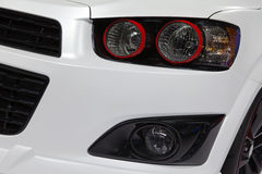 Headlight of sport car. Royalty Free Stock Image