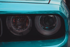 Headlight of sport car Royalty Free Stock Images