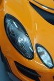 Headlight of a sports car. A closeup of a sports car headlight Royalty Free Stock Image